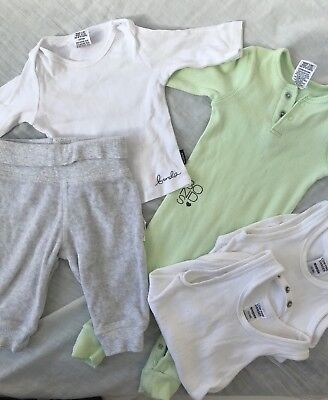 Boy Girls Unisex Bonds Purebaby Newborn Bundle - Pants/ Tops / Singlets 000 0-3