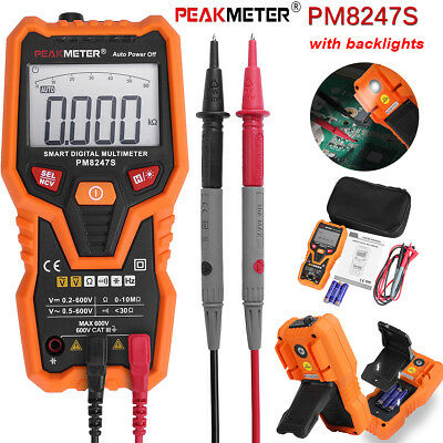 PEAKMETER PM8247S Non Contact Smart Auto Range Digital Multimeter with Backlight