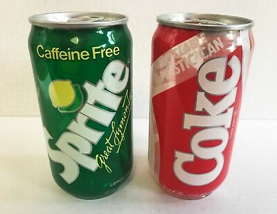 Rare Vintage Coca Cola coke and sprite plastic and aluminum cans test market?