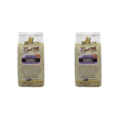 2X  Bob's Red Mill Granola Cinnamon Raisin Whole Grain Cereal Breakfast Daily