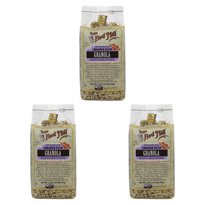 3X Bob's Red Mill Granola Cinnamon Raisin Whole Grain Cereal Breakfast Daily