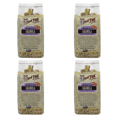 4X Bob's Red Mill Granola Cinnamon Raisin Whole Grain Cereal Breakfast Daily