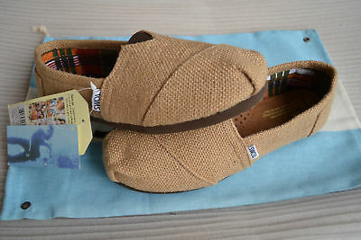 New with tag Toms NATURAL BURLAP WOMEN'S CLASSICS Shoes US size 6.5 to size 9