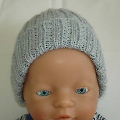 Hand Knitted Baby Beanie for  Small Newborn Baby