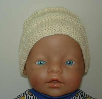 Hand Knitted Hat for Newborn Baby