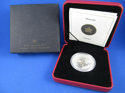 "2004 Silver Proof Hologram Coin - Natural Wonders ""Diamonds"" - R.c.m."