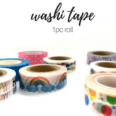 Washi tape SALE 15mm x 10m, 1PC NEW 30 patterns and glitter, planner craft tape