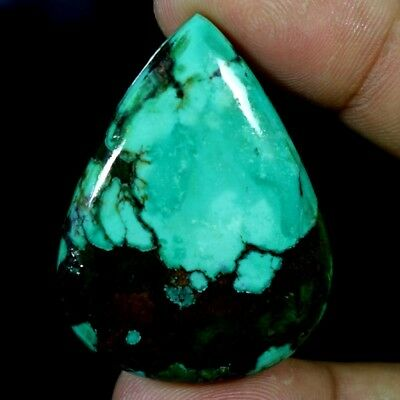 81.75Ct 100% Natural Magnificent Tibet Turquoise Pear Cabochon A+ Loose Gemstone