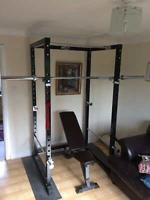 Ryno Full Power Cage/Squat Rack 350KG Rated With Safety Bars