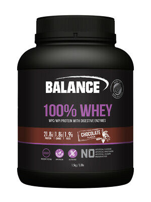 Balance 100% Whey Natural Protein Wpc Wpi 1.5Kg Chocolate