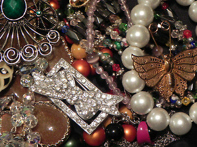 Estate Sale Lot of Vintage to Modern Jewelry, Untested, Some Signed #609