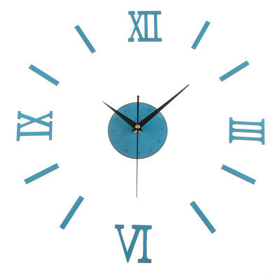 Classic Roman Style 3D DIY Numeral Wall Clock Stickers Home Decor Art Timepiece