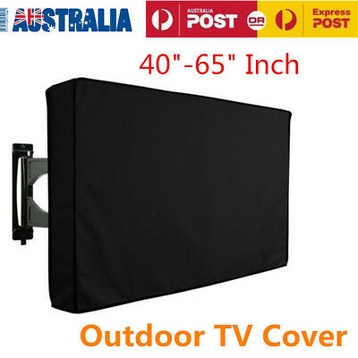 "40""-65"" Inch Waterproof TV Cover Outdoor Patio Flat Television Protector Black"