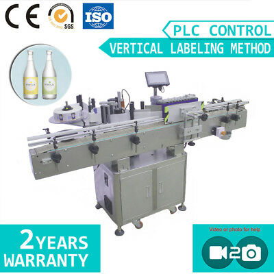 Vertical Type Large Size Automatic Round Sticker Plastic Bottle Labeling Machine
