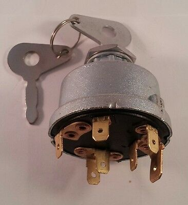 Durite 4 Pos. Ignition Switch replaces Lucas 35327 in Dumper Boat Generator etc.