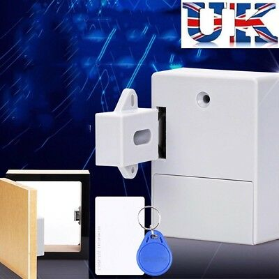 RFID Cabinet Drawer Lock Hidden Digital Lock without Perforate Hole Battery UKGS