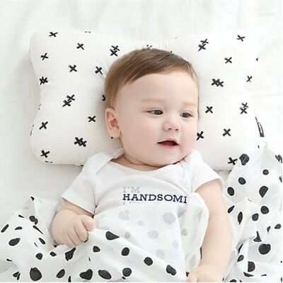 Newborn Baby Pillow 3D Air Mesh and Washable Cotton Adjustable Height Black