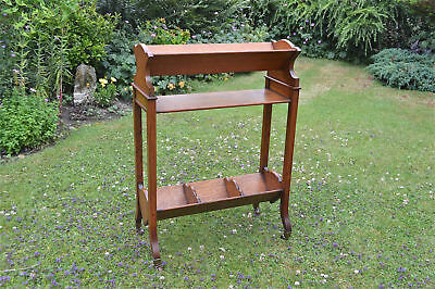 Superb Army & Navy solid oak book stand trough campaign bookcase shelf shelves