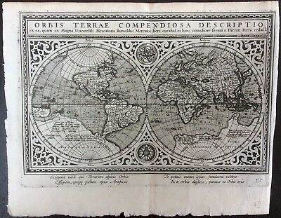 Beautiful antique map published 1617 by Jan Jansson & engraved by Abraham Goos