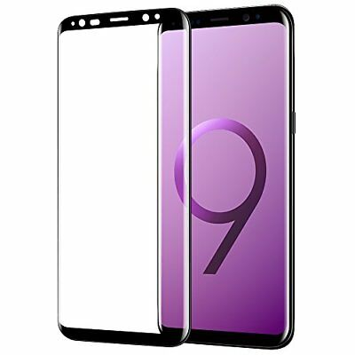 For Samsung Galaxy S9 3D Full Curved Tempered Glass LCD Screen Protector Black..