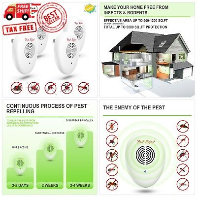 NEW 2018 Ultrasonic Pest Repellent (4-Pack)[UPGRADED] Electronic Ultrasound Co
