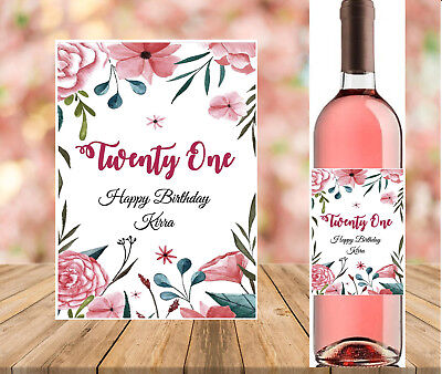 Personalised 21st/30th/40th Birthday Wine Bottle Label
