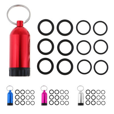 Mini Alloy SCUBA Diving Tank O-Ring Replacement Kit Keychain with Brass Pick