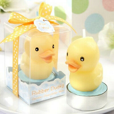 FD2772 Lucky Yellow Duck Candle With Box For Wedding X'mas Home Decor Cute Gift