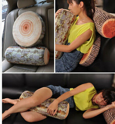 FD1295 Natural Wood Design Cushion Neck Home Sleeping Throw Log Pillow Back Soft