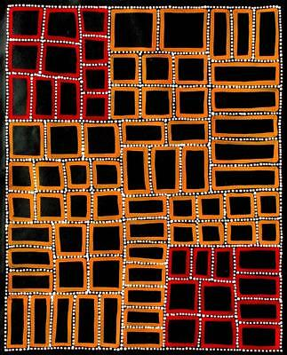 Aboriginal Art Painting by Adam Reid 58cm x 72cm