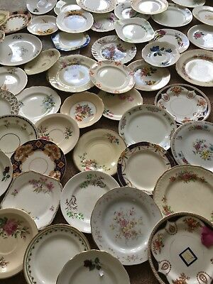 Massive VINTAGE Tea Plates, Sandwich Plates,Crockery Job Lot. Wedding / Party /