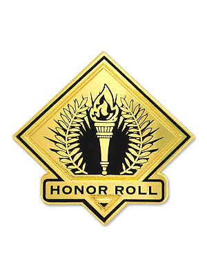 PinMart's Black and Gold Honor Roll Student School Teacher Lapel Pin