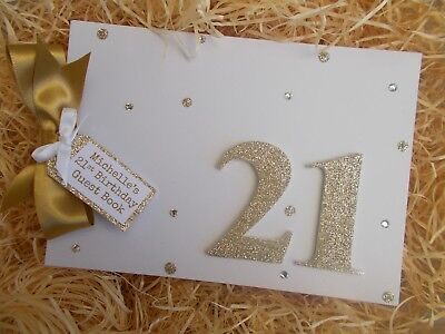 Personalised 21St Birthday Guest Book Scrapbook Memory Album Gift Multi Use
