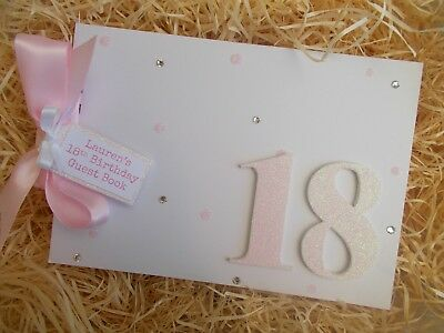 Personalised 18Th Birthday Guest Book Scrapbook Memory Album Gift Multi Use