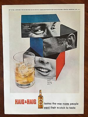 Vintage 1962 Original Print Ad HAIG & HAIG SCOTCH WHISKY ~Look-Heard-Telling~