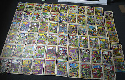 Hulk Weekly Complete 63 Issues +2 Extra ORIGINAL COMICS Marvel 1979 not DVD