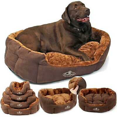 Dog Bed Pet Cat Puppy Deluxe Faux Fur Washable Fleece Cushion S M L XL Easipet