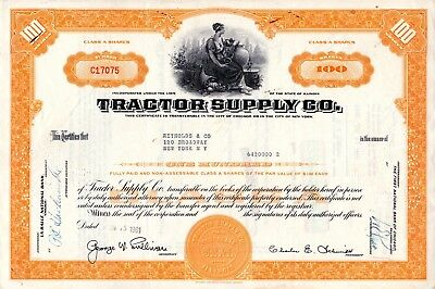 The Tractor Supply Company of Illinois 1961 Stock Certificate