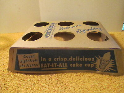Eat It All Ice Cream Cone Carry Tray 1950's - 60's Last One
