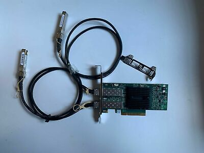 Mellanox 98Y2404 Dual-Port 10g Adapter Card + SFP+ FTLX8571D3BCL10G-850nm