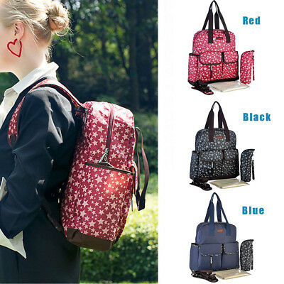 Maternity Bag Baby Nappy Diaper Changing Backpack Mummy Rucksack 4PCS