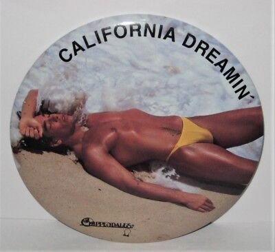 1988 Vintage Chippendales Male Review 6 Inch California Dreamin' Botton / Easel