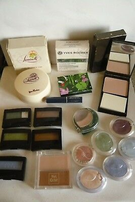 LOT de 18 YVES ROCHER MAKE-UP LUMINELLE, PURE LIGHT, VIE PRIVÉE,COULEUR & NATURE
