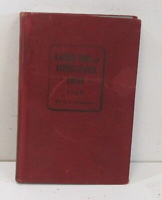 1949 Guide Book Of United States Coins Hardcover Red Book Used/Musty #1