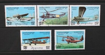 CAMBODIA 1994 Aircraft Aviation Seaplanes. Set of 5. Fine USED. SG1408/1412.