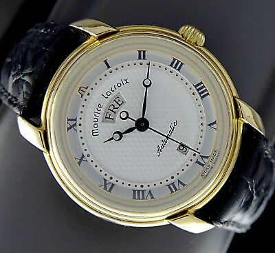 MAURICE LACROIX 7889 PONTOS Automatic Day Date Damen Uhr in Stahl/18K vergoldet