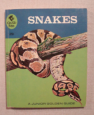 Snakes by George S. Fichter A Golden Quiz-Me Book PB 1963 Edition