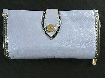 Vintage EMILIO PUCCI Made in Italy Blue with Brown Trim Wallet with Dust Bag