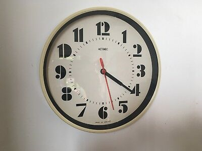 Vintage Metamec Retro Small Wall Clock Made in England Battery Converted