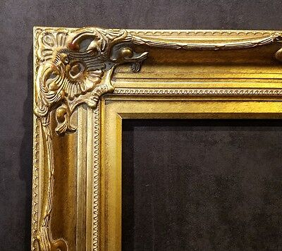 """5"""" Antique Gold Leaf Ornate photo Oil Painting Wood Picture Frame 801G 20x24"""